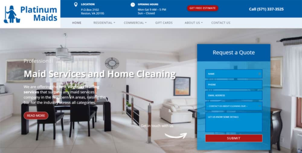 Platinum Maid Website Project