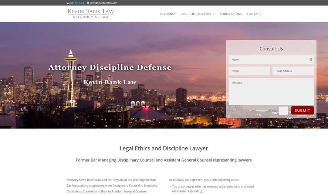 Kevin Bank Law Attorney Website