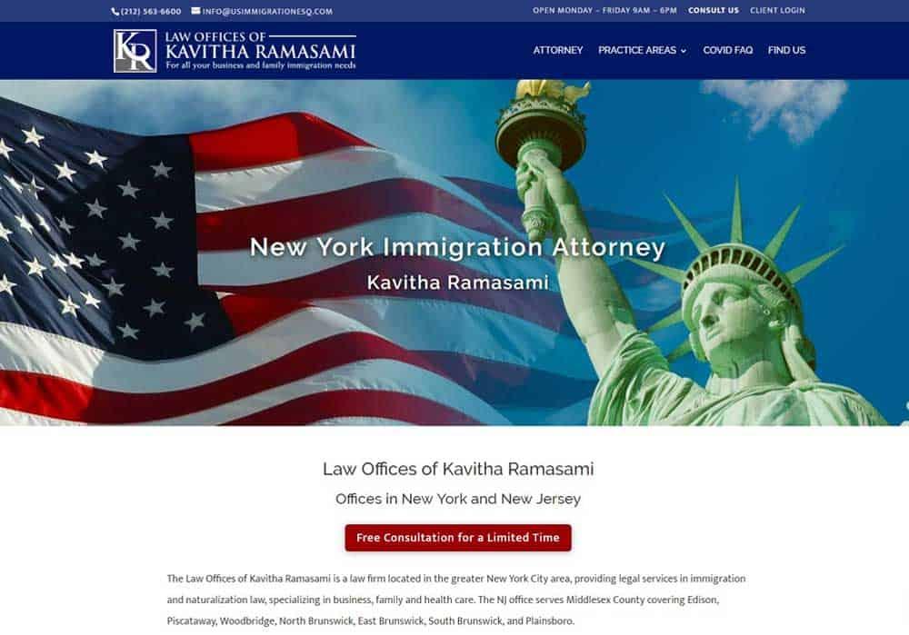 Kavitha attorney website