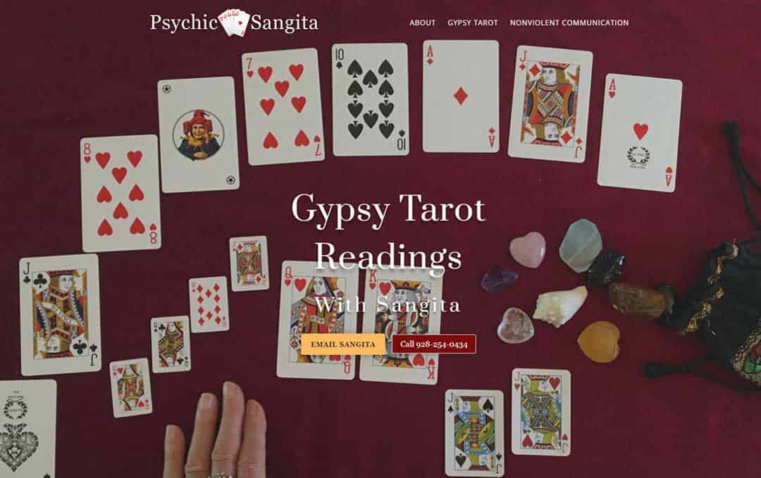 Sangita Tarot website