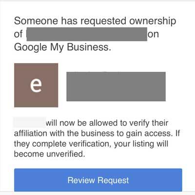 Google My Business Phishing