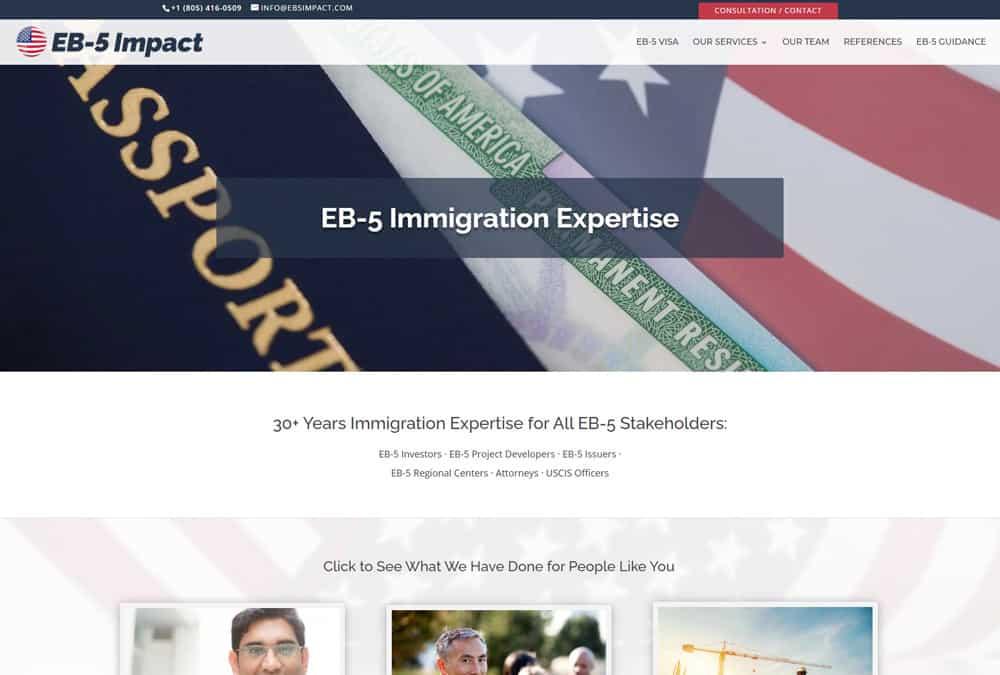 EB-5 Impact website