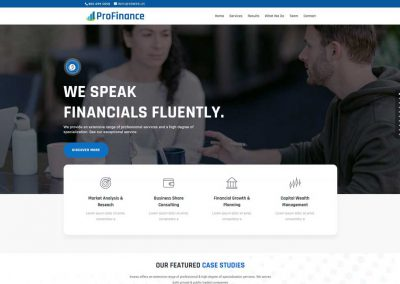 Financial Services Website (One Page Starter)
